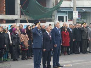Atatürk'ün Akhisar'a gelişinin 94.yıl kutlama töreni çelenk su