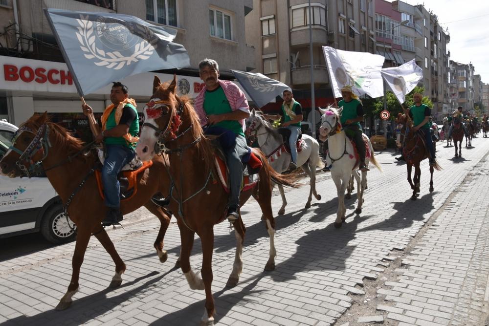 558. Çağlak Festivali Açılış Töreni Atlı birliklerin geçişleri 1