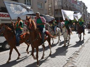 558. Çağlak Festivali Açılış Töreni Atlı birliklerin geçişleri