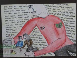 Akhisar Belediyesi Sanat Atölyesi Karikatür Kursu eserleri
