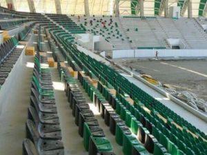 Spor Toto Akhisar Belediye Stadyumu İnşaatının 14 Ağustos 2017 fotoğrafl