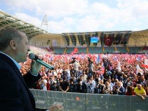 Cumhurbaşkanı Recep Tayyip Erdoğan, Akhisar'da miting yaptı