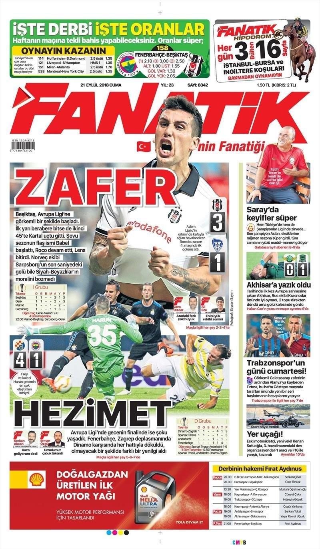 Akhisarspor, Krasnodar maçı sonrası ulusal gazetelerinde yer alan haber 1
