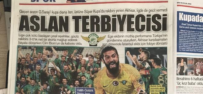 Akhisarspor, Galatasaray'ı 3-0 yenmesinin ardından gazete manşetler 1
