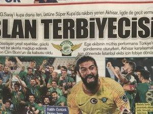 Akhisarspor, Galatasaray'ı 3-0 yenmesinin ardından gazete manşetler