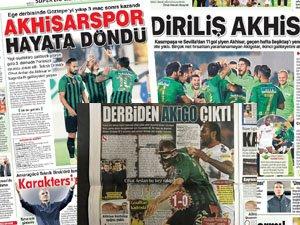 Akhisarspor'un Göztepe galibiyeti sonrası gazete manşetleri