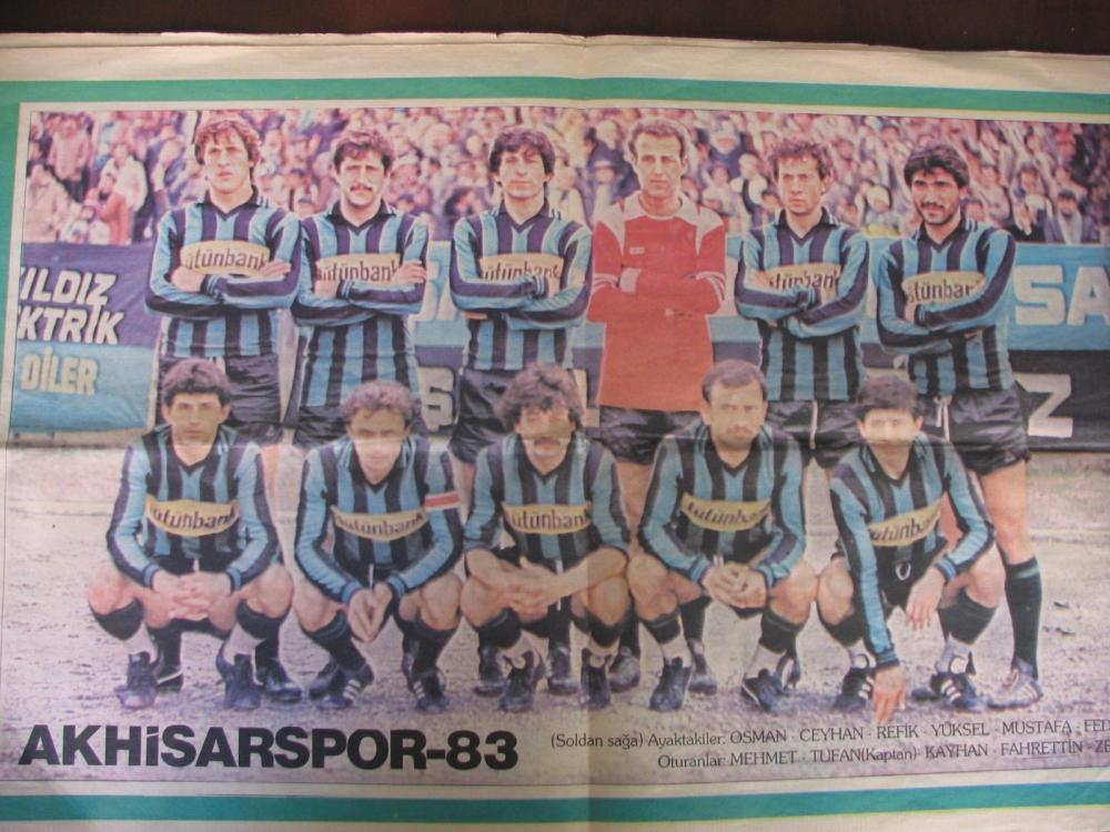 1983 yılına ait Yeni Asır Gazetesi Akhisarspor eki 1