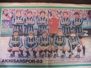 1983 yılına ait Yeni Asır Gazetesi Akhisarspor eki