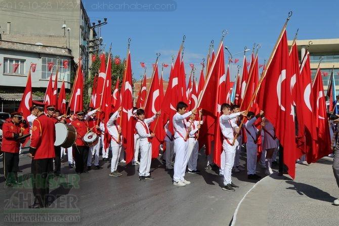 Cumhuriyet Bayramı 96.yıl Atatürk anıtı çelenk sunma töreni 1