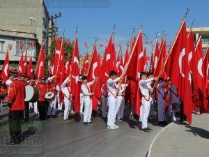 Cumhuriyet Bayramı 96.yıl Atatürk anıtı çelenk sunma töreni
