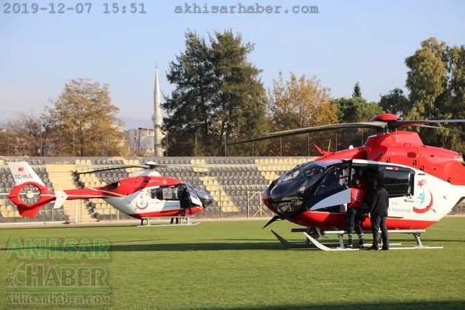 Akhisar'da hava ambulansı pilot değişimi yapıldı 1
