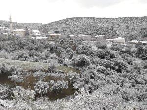 Akhisar'da kar manzaraları
