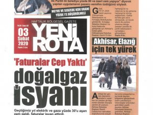 Akhisar Yeni Rota Gazetesi 3 Şubat 2020
