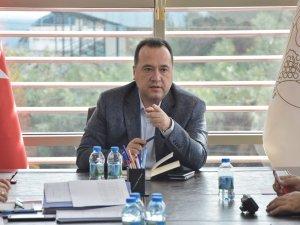 Akhisar Belediyesi Başkanı Besim Dutlulu, müdürleri ile toplantı yaptı