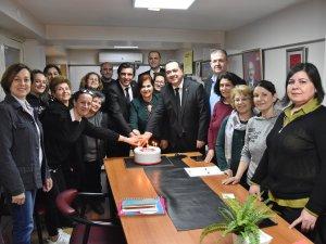 Başkan Dutlulu, CHP Kadın Kolları yeni Başkanı Fatma Celebci'yi teb
