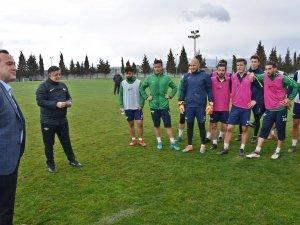 Belediye Başkanı Besim Dutlulu'dan, Akhisarspor'a ziyaret