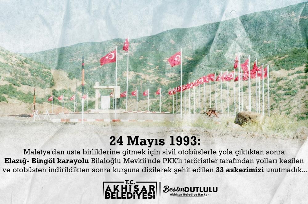 Akhisar Belediyesi'nden 24 Mayıs paylaşımı 1