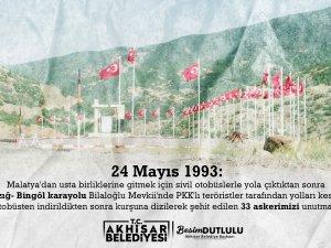 Akhisar Belediyesi'nden 24 Mayıs paylaşımı