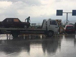 Aşırı yağmur kazayı beraberinde getirdi