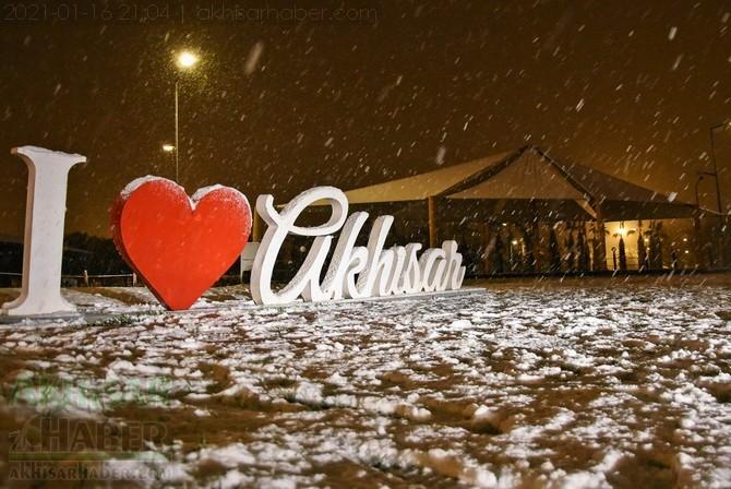 Akhisar'dan 16 Ocak 2021 tarihli kar manzaraları 1