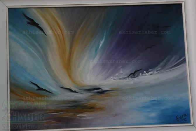 Gülsüm Kaya Resim Atölyesi Sergisi Açıldı galerisi resim 21
