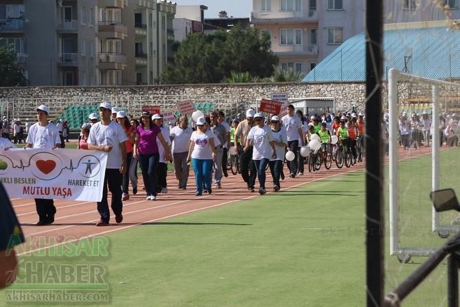 Akhisar'da Obezite'ye karşı hareketli yaşam yürüyüşü yapıldı 42