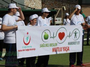 Akhisar'da Obezite'ye karşı hareketli yaşam yürüyüşü yapıldı