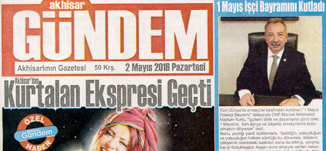 Akhisar Gündem Gazetesi 2 Mayıs 2016