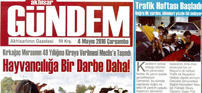 Akhisar Gündem Gazetesi 4 Mayıs 2016