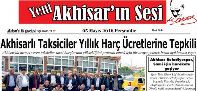 Yeni Akhisar'ın Sesi Gazetesi 5 Mayıs 2016