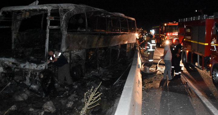 Akhisar-Balıkesir Arasında Otobüs Kaza Yaptı; 1 Ölü