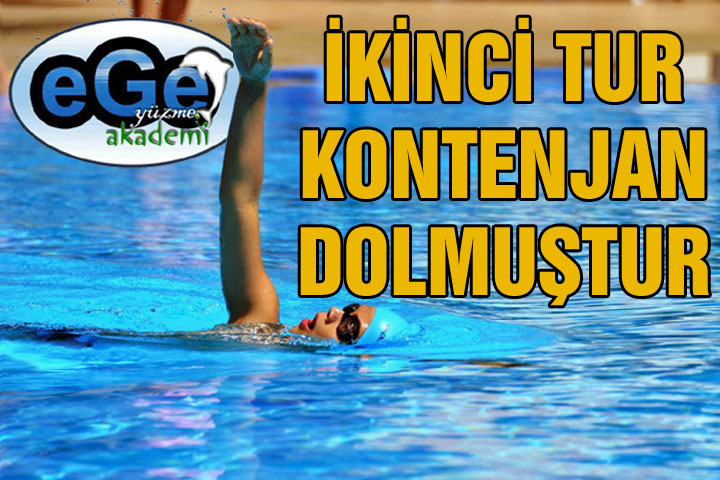 Ege Yüzme Akademi'de 2. Tur Kontenjanı Dolmuştur