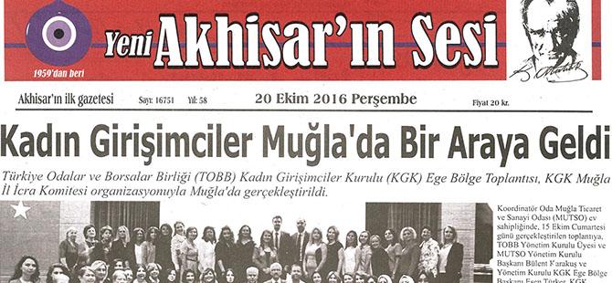 Yeni Akhisar'ın Sesi Gazetesi 20 Ekim 2016