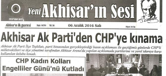 Yeni Akhisarın Sesi Gazetesi 6 Aralık 2016