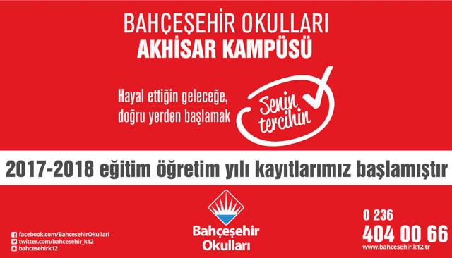 Akhisar Bahçeşehir Okulları 2017-2018 kayıtları başladı