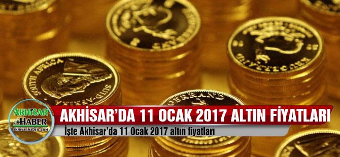 Akhisar'da 11 Ocak 2017 altın fiyatları