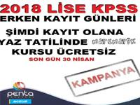 2018 Lise KPSS'de erken kayıt günleri başladı