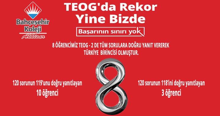 TEOG-2'de 8 Türkiye birincisi ile büyük başarı