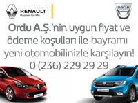 Ordu A.Ş | Bayramı yeni otomobilinizle karşılayın!
