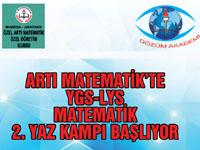 Artı Matematik'te YGS-LYS Matematik 2. Yaz kampı başlıyor