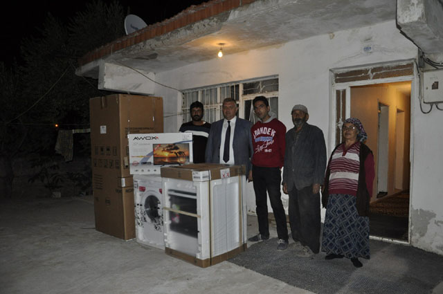Evi yanan ailelere, Büyükşehir desteği