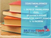 British Town'da Öğretmenlere özel yüzde 10 indirim