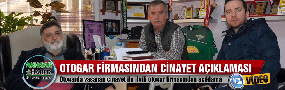 Otogar firmasından cinayet açıklaması