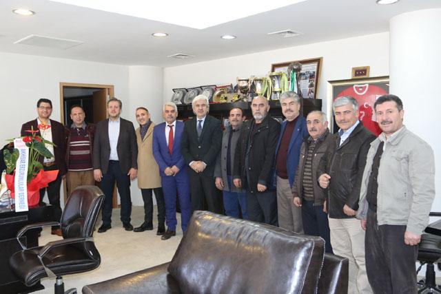 Erzurumlular Derneğinden, Belediye Başkanına ziyaret