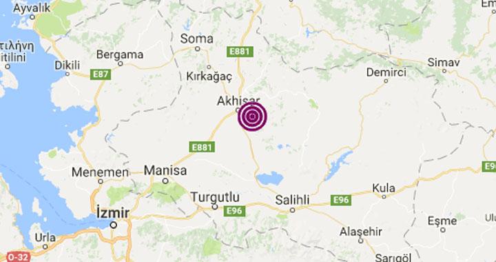 Merkez üssü Akhisar'da 2.9 şiddetinde deprem meydana geldi