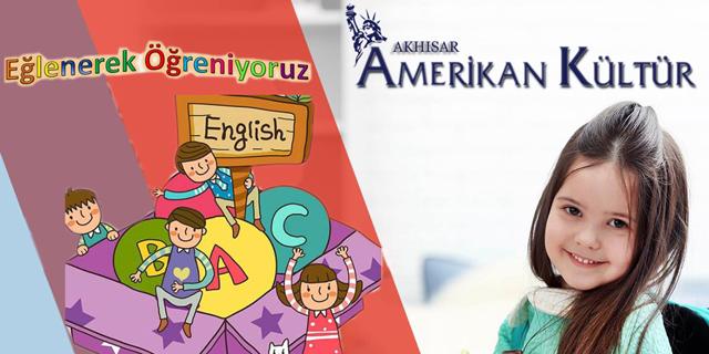 Akhisar Amerikan Kültür dil kursundan çocuklar için İngilizce