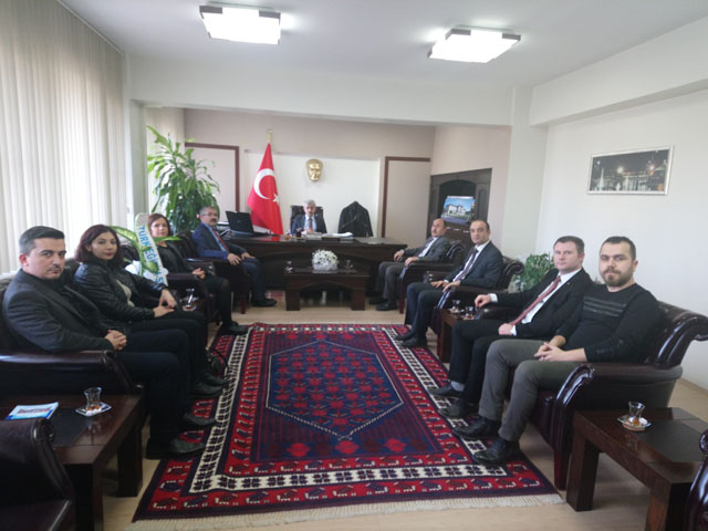 Türk Eğitim-Sen, Kaymakam Peker'i ziyaret etti