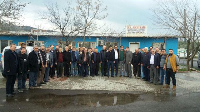 Akhisar kamyoncular Kooperatifi Zafer Kara'yı konuk etti