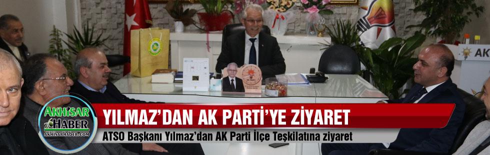 ATSO Başkanı Yılmaz'dan AK Parti İlçe Teşkilatına ziyaret