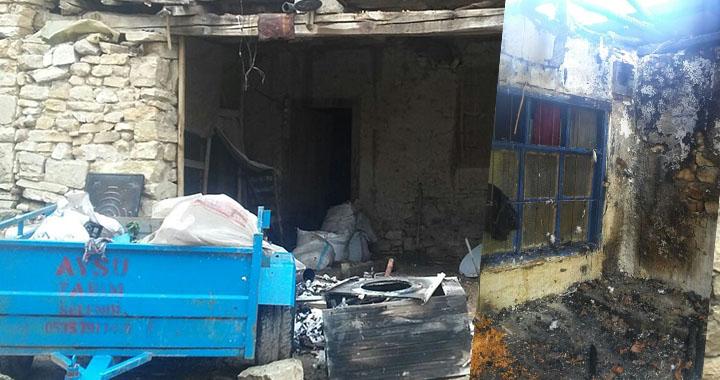 Akhisar Dağdere mahallesindeki ev yangını korkuttu